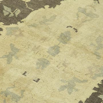 """All Wool Hand-Knotted Vintage Turkish Rug - 4' 4"""" x 7' 8"""" (52 in. x 92 in.) - K0039807"""