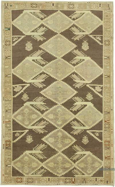 "All Wool Hand Knotted Vintage Area Rug - 5' 3"" x 8' 4"" (63 in. x 100 in.)"