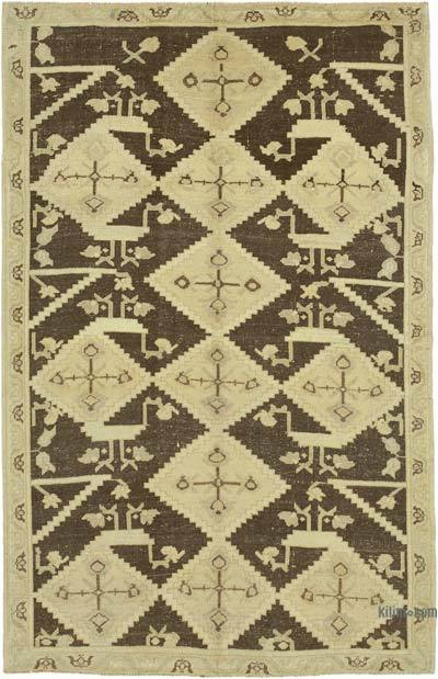 "All Wool Hand Knotted Vintage Area Rug - 5'1"" x 7'11"" (61 in. x 95 in.)"