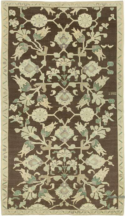 "All Wool Hand Knotted Vintage Area Rug - 4' 11"" x 8' 8"" (59 in. x 104 in.)"