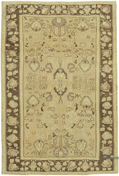 """All Wool Hand Knotted Vintage Area Rug - 4'11"""" x 7'4"""" (59 in. x 88 in.)"""