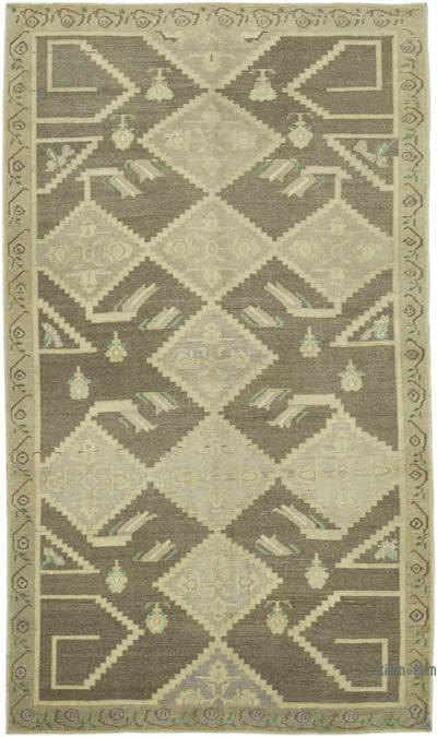 """All Wool Hand Knotted Vintage Area Rug - 4' 9"""" x 8'  (57 in. x 96 in.)"""