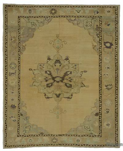 "All Wool Hand Knotted Vintage Area Rug - 5' 3"" x 6' 6"" (63 in. x 78 in.)"