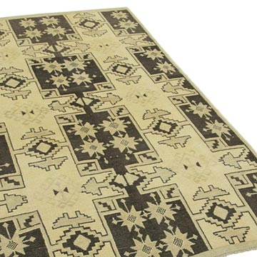 """All Wool Hand-Knotted Vintage Turkish Rug - 4' 3"""" x 6' 9"""" (51 in. x 81 in.) - K0039842"""