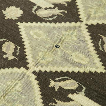 """All Wool Hand-Knotted Vintage Turkish Rug - 4' 7"""" x 7' 7"""" (55 in. x 91 in.) - K0039847"""