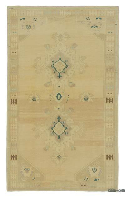 "All Wool Hand Knotted Vintage Area Rug - 3' 10"" x 6' 4"" (46 in. x 76 in.)"
