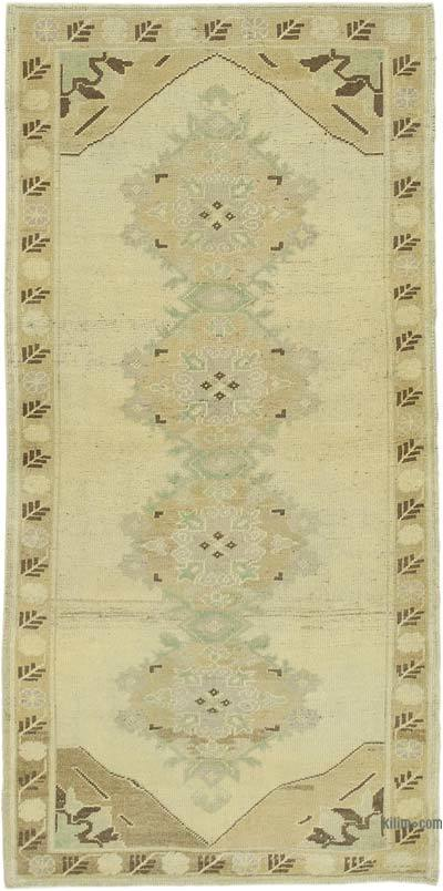 "All Wool Hand Knotted Vintage Area Rug - 3' 4"" x 6' 9"" (40 in. x 81 in.)"