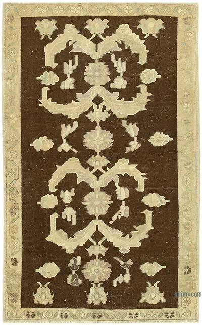 "All Wool Hand Knotted Vintage Area Rug - 3' 5"" x 5' 5"" (41 in. x 65 in.)"