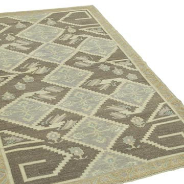 """All Wool Hand-Knotted Vintage Turkish Rug - 4'  x 6' 6"""" (48 in. x 78 in.) - K0039873"""