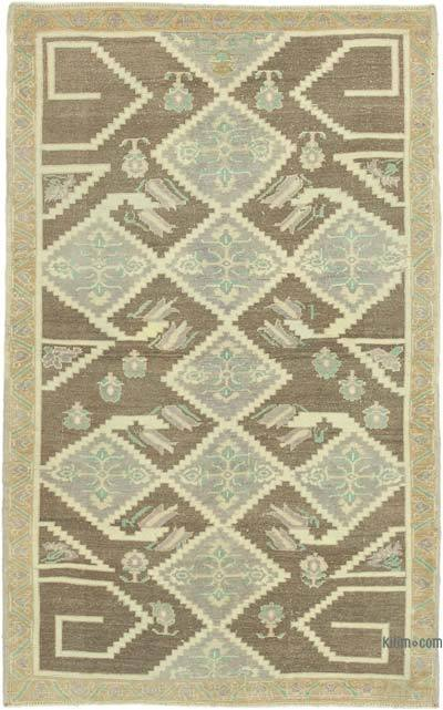 "All Wool Hand Knotted Vintage Area Rug - 4'  x 6' 6"" (48 in. x 78 in.)"