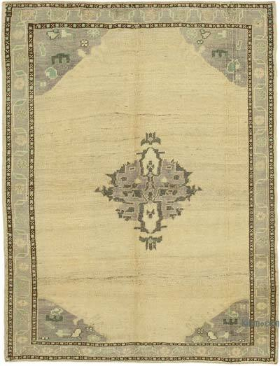 """All Wool Hand Knotted Vintage Area Rug - 4'6"""" x 6' (54 in. x 72 in.)"""