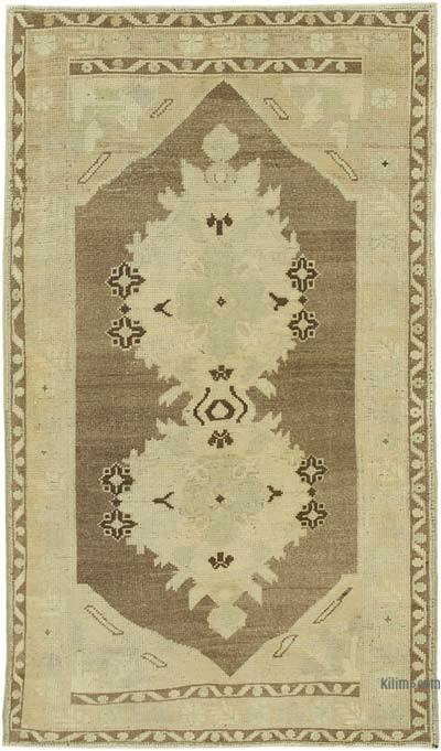 "All Wool Hand Knotted Vintage Area Rug - 3' 2"" x 5' 6"" (38 in. x 66 in.)"