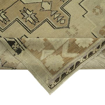 """All Wool Hand-Knotted Vintage Turkish Rug - 3' 9"""" x 7' 5"""" (45 in. x 89 in.) - K0039886"""