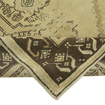"""All Wool Hand-Knotted Vintage Turkish Rug - 3' 6"""" x 6' 7"""" (42 in. x 79 in.) - K0039887"""