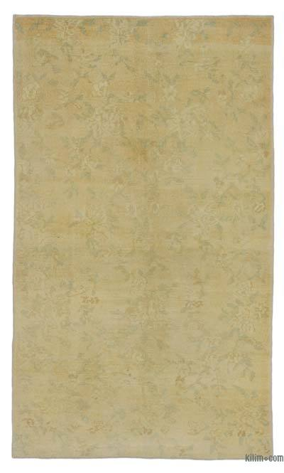 "All Wool Hand Knotted Vintage Area Rug - 4'  x 6' 9"" (48 in. x 81 in.)"
