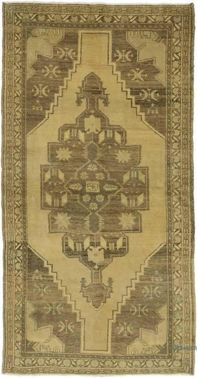 "All Wool Hand Knotted Vintage Area Rug - 3' 3"" x 6' 3"" (39 in. x 75 in.)"