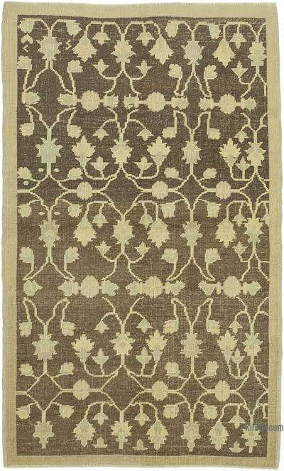 """All Wool Hand Knotted Vintage Area Rug - 3'11"""" x 6'4"""" (47 in. x 76 in.)"""
