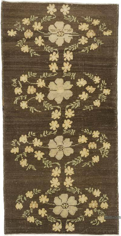 "All Wool Hand Knotted Vintage Area Rug - 2' 11"" x 5' 8"" (35 in. x 68 in.)"
