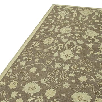 """All Wool Hand-Knotted Vintage Turkish Rug - 3' 8"""" x 7' 7"""" (44 in. x 91 in.) - K0039905"""