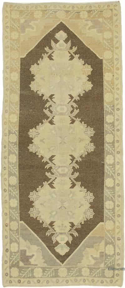 "All Wool Hand Knotted Vintage Area Rug - 2' 8"" x 6' 3"" (32 in. x 75 in.)"