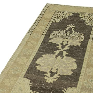 """All Wool Hand-Knotted Vintage Turkish Rug - 2' 10"""" x 6'  (34 in. x 72 in.) - K0039929"""