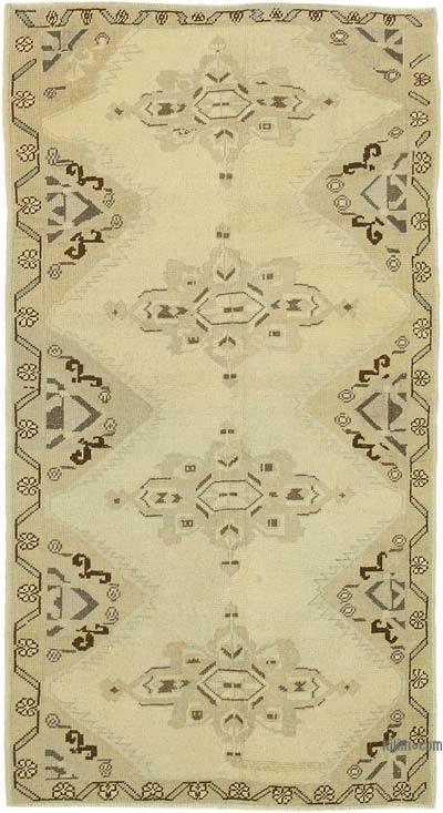 El Dokuma Vintage Halı - 109 cm x 200 cm
