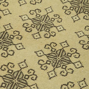 """All Wool Hand-Knotted Vintage Turkish Rug - 2' 10"""" x 6' 3"""" (34 in. x 75 in.) - K0039935"""