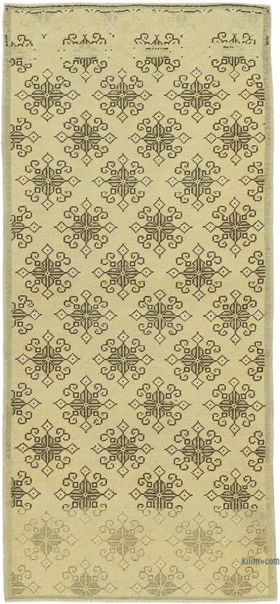 "All Wool Hand Knotted Vintage Area Rug - 2' 10"" x 6' 3"" (34 in. x 75 in.)"