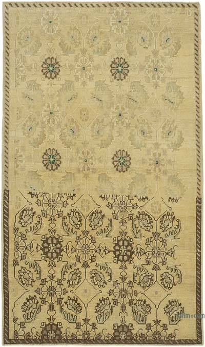 "All Wool Hand Knotted Vintage Area Rug - 4'  x 6' 11"" (48 in. x 83 in.)"