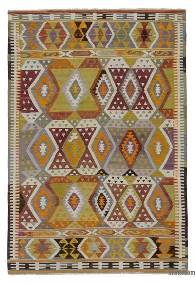 """Vintage Antalya Kilim Rug - 5' 8"""" x 8' 2"""" (68 in. x 98 in.)"""