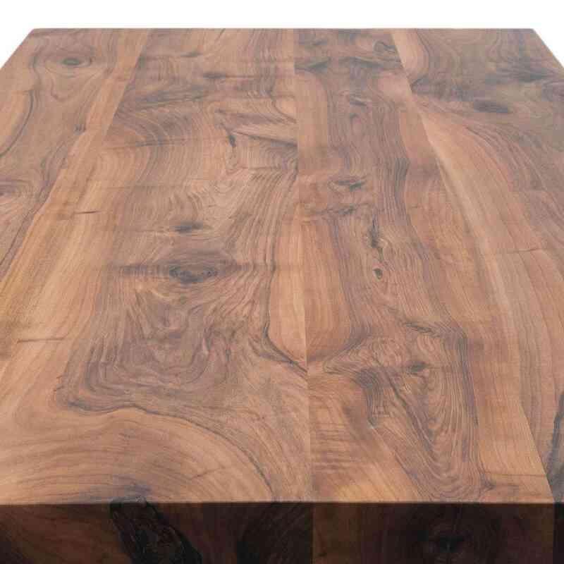 Walnut Table with Sand Cast Aluminium Legs - K0040424