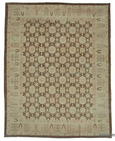 """New Hand Knotted All Wool Oushak Rug - 9'10"""" x 12'6"""" (118 in. x 150 in.)"""
