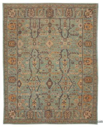 "New Hand Knotted All Wool Oushak Rug - 8' 9"" x 11' 6"" (105 in. x 138 in.)"