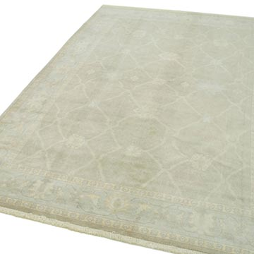 """Brown New Hand Knotted Wool Oushak Rug - 6' 1"""" x 9'  (73 in. x 108 in.) - K0040464"""
