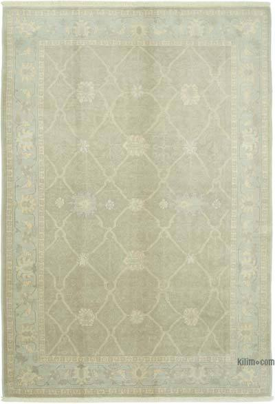 """Brown New Hand Knotted Wool Oushak Rug - 6' 1"""" x 9'  (73 in. x 108 in.)"""