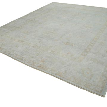 """New Hand Knotted Wool Oushak Rug - 10' 3"""" x 11' 7"""" (123 in. x 139 in.) - K0040467"""