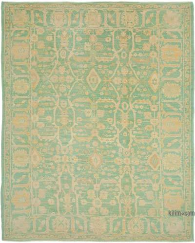 "New Hand Knotted All Wool Oushak Rug - 9'1"" x 11'9"" (109 in. x 141 in.)"