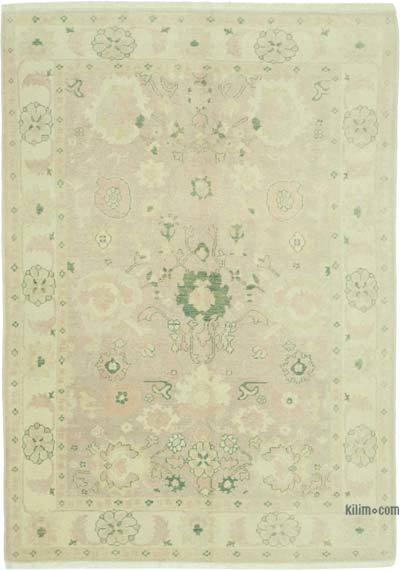Bej Yeni El Dokuma Uşak Halısı - 168 cm x 241 cm
