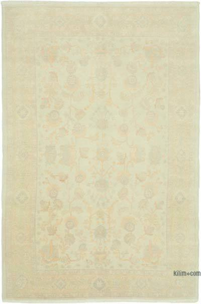 """Beige New Hand Knotted Wool Oushak Rug - 5' 11"""" x 9' 1"""" (71 in. x 109 in.)"""