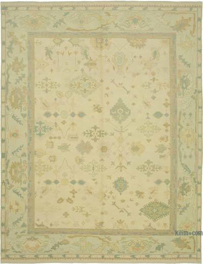 """New Hand Knotted All Wool Oushak Rug - 9' 10"""" x 12' 8"""" (118 in. x 152 in.)"""