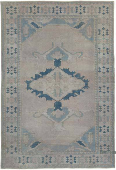 "New Hand Knotted All Wool Oushak Rug - 7'  x 10' 4"" (84 in. x 124 in.)"
