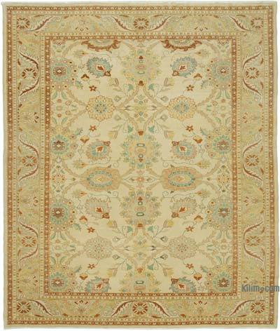"""New Hand Knotted Wool Oushak Rug - 9' 8"""" x 11' 7"""" (116 in. x 139 in.)"""