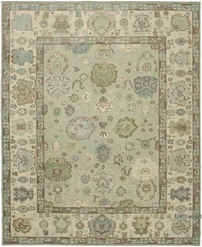 "New Hand Knotted All Wool Oushak Rug - 10' 6"" x 12' 10"" (126 in. x 154 in.)"