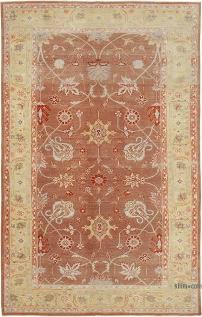"Red New Hand Knotted All Wool Oushak Rug - 5' 9"" x 8' 11"" (69 in. x 107 in.)"