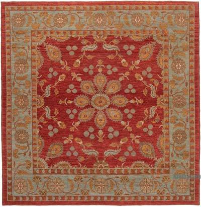 Kırmızı Yeni El Dokuma Uşak Halısı - 274 cm x 279 cm
