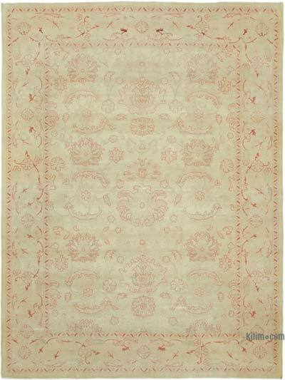 "Beige New Hand Knotted All Wool Oushak Rug - 8' 8"" x 11' 7"" (104 in. x 139 in.)"