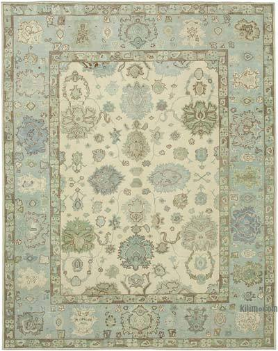 "New Hand Knotted All Wool Oushak Rug - 10' 3"" x 13' 1"" (123 in. x 157 in.)"