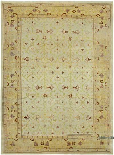 "New Hand Knotted All Wool Oushak Rug - 8' 9"" x 11' 11"" (105 in. x 143 in.)"
