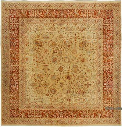 "New Hand Knotted All Wool Oushak Rug - 7'9"" x 8' (93 in. x 96 in.)"