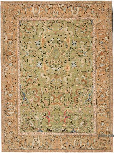 "New Hand Knotted All Wool Oushak Rug - 8' 10"" x 12'  (106 in. x 144 in.)"